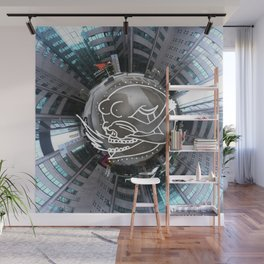 Stereographic Skull Woman Wall Mural