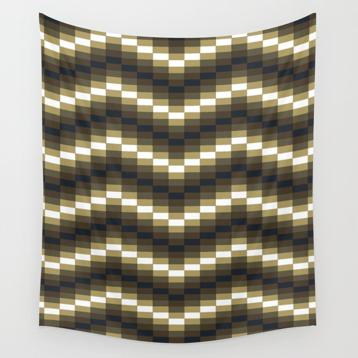 Block Wave Illustration Artwork Wall Tapestry