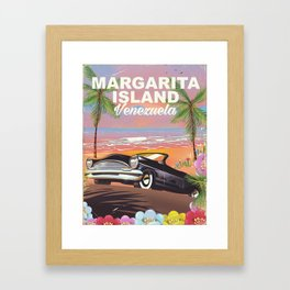 Margarita Island Venezuela travel poster Framed Art Print