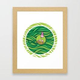 Birds in the nest Framed Art Print