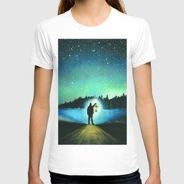 Searching, pastel pencil T-shirt