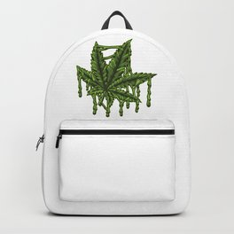 Melting Cannabis Leaf - Weed Marijuana THC CBD Backpack