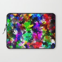 psychedelic splash painting abstract texture in pink blue green yellow red black Laptop Sleeve