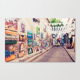 Caribbean Street Paintings Fine Art Print Canvas Print