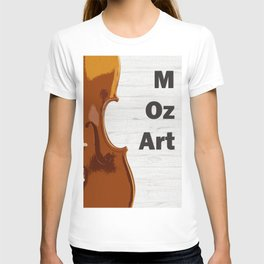 Violin and Mozart - classical music oil painting poster T-shirt