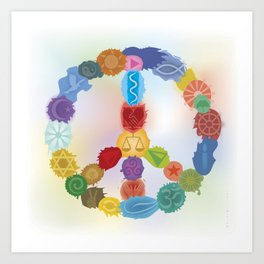Peace Sign In Colors Art Print