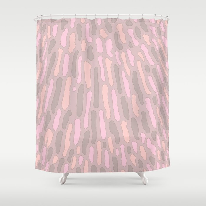 Organic Abstract Cappuccino Neutral Shower Curtain By Silverpegasus