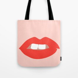 Red Lipstick Tote Bag