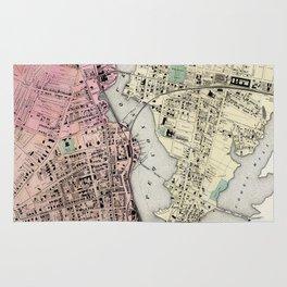 Vintage Map of Bridgeport CT (1867) Rug