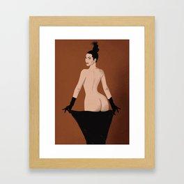 Pop Art Kim Framed Art Print