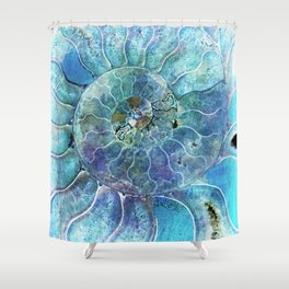 Aqua seashell - mother of pearl - Beautiful backdrop Shower Curtain