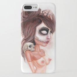 Deathlike Skull Impression iPhone Case