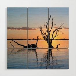 Sunset Silhouette Wood Wall Art