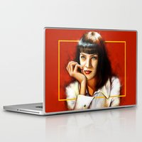 mia wallace Laptop & iPad Skins featuring Mia Thurman by Shana-Lee