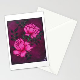 Romantic Peony Stationery Cards