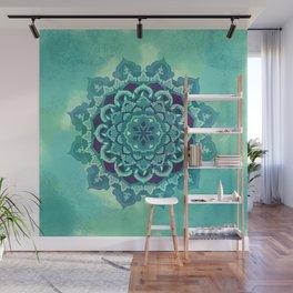 Green Blue Mandala Design Wall Mural