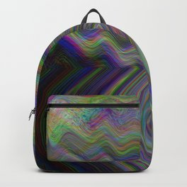 Digital pixel noise and glitch Backpack