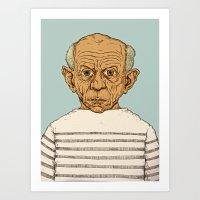 pablo picasso Art Prints featuring Pablo Picasso by baldur