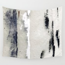 Romantic Rainy Afternoon Black And White Minimalist Painting Wall Tapestry