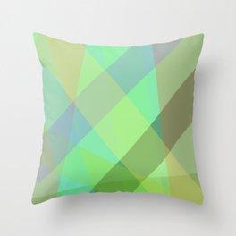Stripes - Seafoam Green Throw Pillow