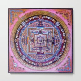 Kalachakra Sera - Mandala Metal Print