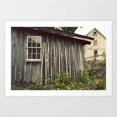 The Wood House Art Print