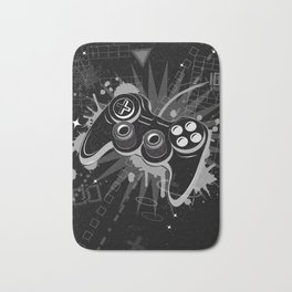 Gamepad Graffiti Grunge Bath Mat