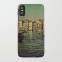 postcard iPhone & iPod Cases featuring Venice postcard by Sylvia Cook Photography
