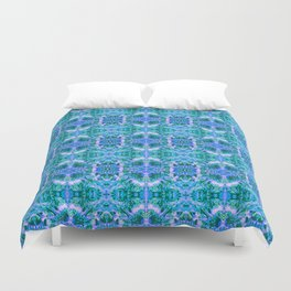 Psychedelic Kaleidoscope Sea Foam Pattern Duvet Cover