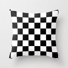 Check (Black & White Pattern) Throw Pillow