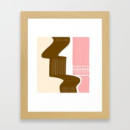 Classic Neapolitan Ice Cream Abstract Framed Art Print