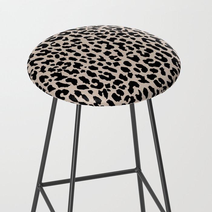 Tan Leopard Bar Stool