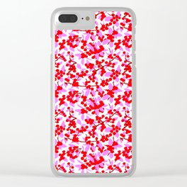 Winterberries in Bright Pink Clear iPhone Case