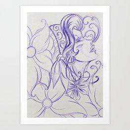 Purple Mirror Gypsy Art Print