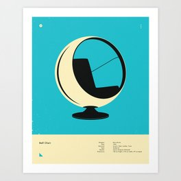 BALL CHAIR (1963) Art Print