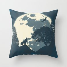 Monotoned Night Time... Throw Pillow