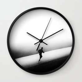 A Run in the Park Wall Clock