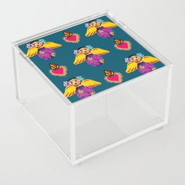 Angels and Corazones (flaming hearts) Acrylic Box