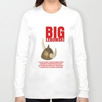 big lebowski Long Sleeve T-shirts featuring BIG LEBOWSKI by FunnyFaceArt