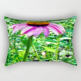 Summer Cone Flower Rectangular Pillow