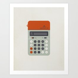 "Vintage Calculator Series: ""Electronic 101"" Art Print"
