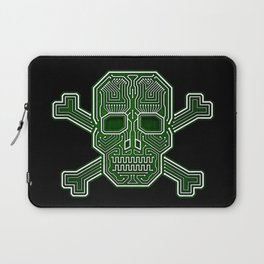 Hacker Skull Crossbones (isolated version) Laptop Sleeve