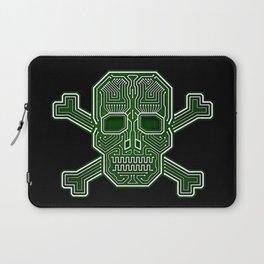 Hacker Skull Crossbones (isolated version) Laptop Sleeve