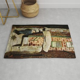 1900 St. Ives Cornwall, The Old Arch, local boy Rug