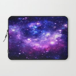 Purple Blue Galaxy Nebula Laptop Sleeve