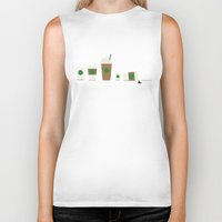 starbucks Biker Tanks featuring Starbucks by Malin Erixon