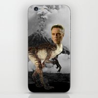 christopher walken iPhone & iPod Skins featuring ChristopheRAPTOR Walken - Christopher Walken Velociraptor by Kalynn Burke