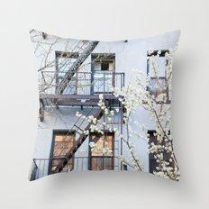 New York City Architecture Photography, New York Art, Brooklyn Prints, NYC Wall Art, Urban Nature Pr Throw Pillow