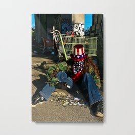 Broken Uncle Sam Metal Print