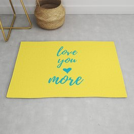 Yellow Teal Love You More Rug